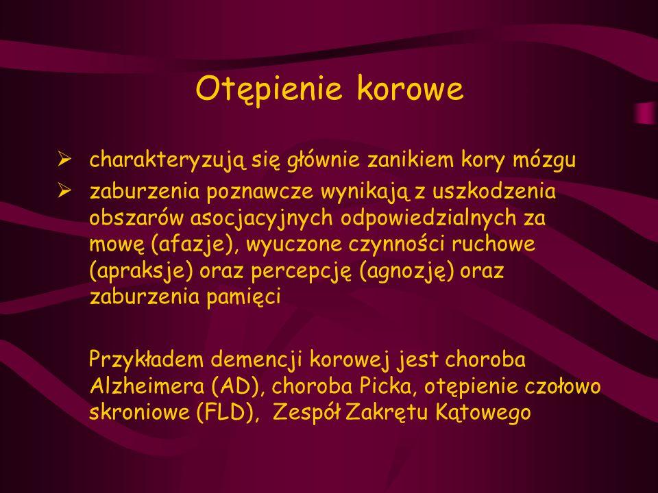 Kryteria diagnostyczne otępienia typu Alzheimerowskiego (AD) wg DSM-IV A.