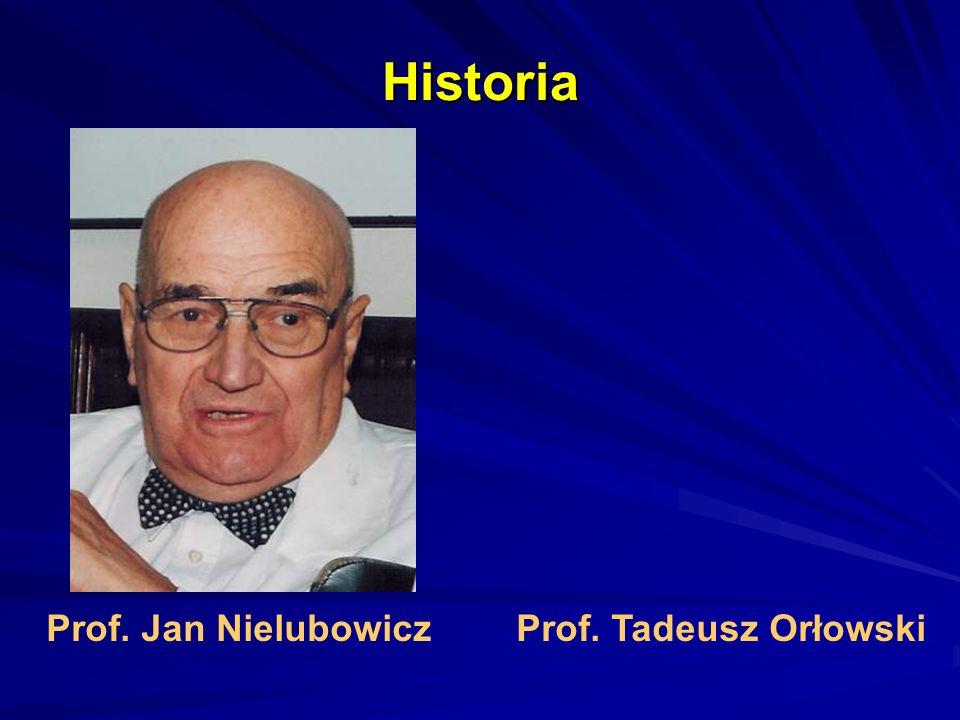 Historia Prof. Jan NielubowiczProf. Tadeusz Orłowski
