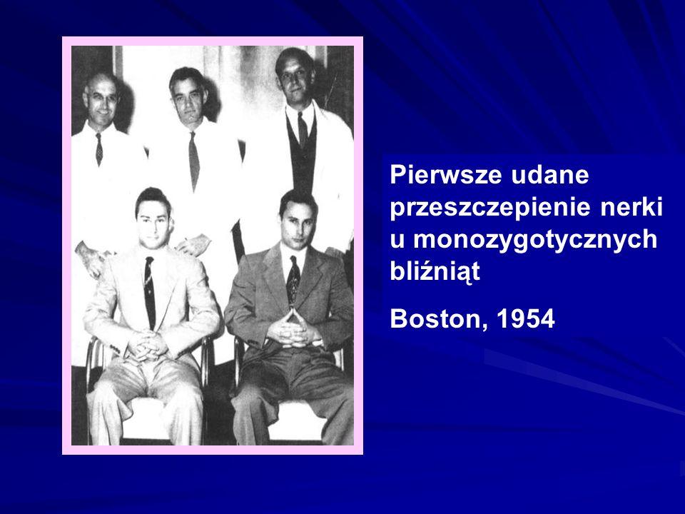 Pierwsze udane przeszczepienie nerki u monozygotycznych bliźniąt Boston, 1954