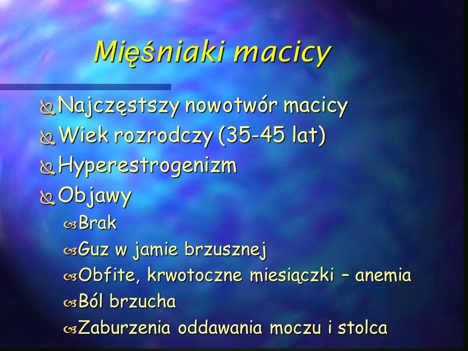 Nowotwory sromu – Klasyfikacja wg FIGO  0 – rak przedinwazyjny  I – guz średnicy do 2 cm, ww.