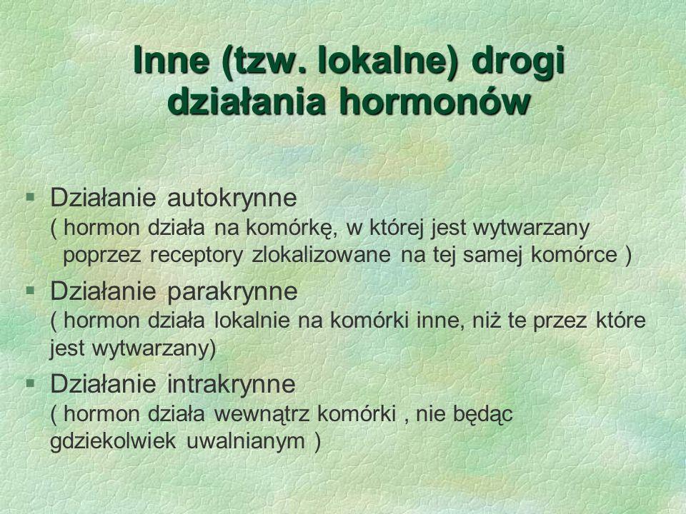 Klasyfikacja hormonów ze względu na budowe chemiczną  Hormony białkowe § Hormony steroidowe § Hormony pochodne aminokwasów § Hormony pochodne kwasu arachidonowego (eikozanoidy)