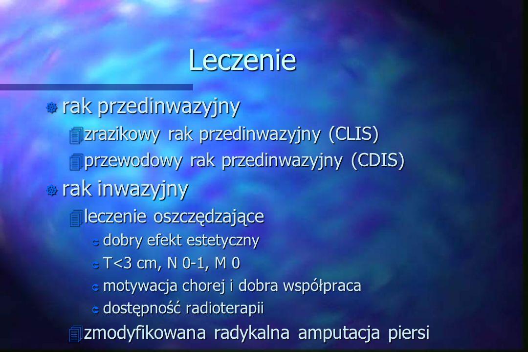 Leczenie ] rak przedinwazyjny 4zrazikowy rak przedinwazyjny (CLIS) 4przewodowy rak przedinwazyjny (CDIS) ] rak inwazyjny 4leczenie oszczędzające Û dob
