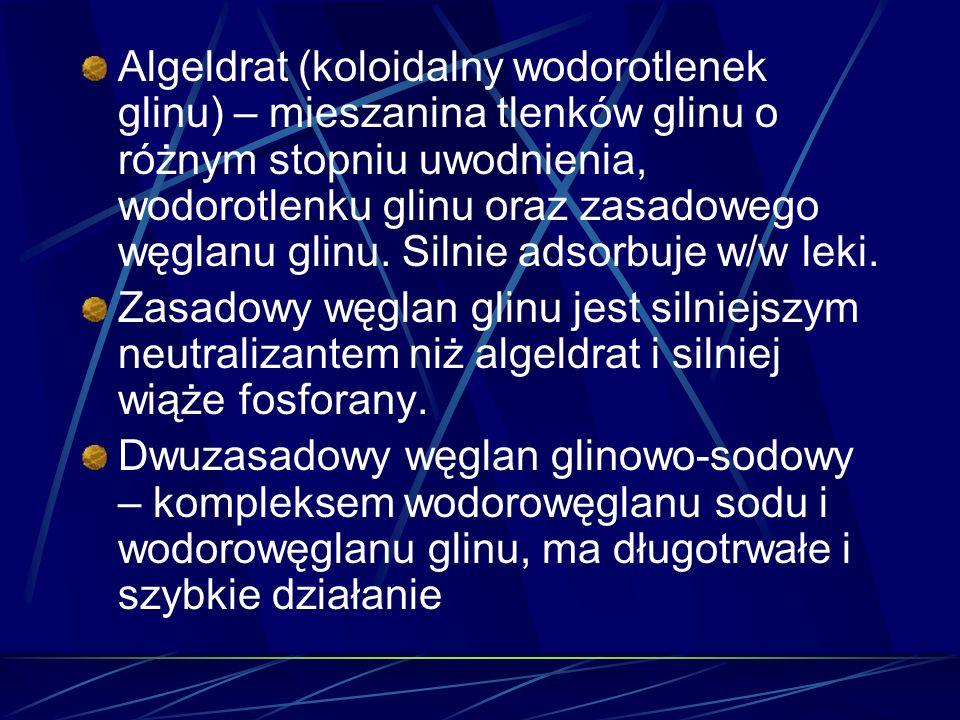 Algeldrat (koloidalny wodorotlenek glinu) – mieszanina tlenków glinu o różnym stopniu uwodnienia, wodorotlenku glinu oraz zasadowego węglanu glinu. Si