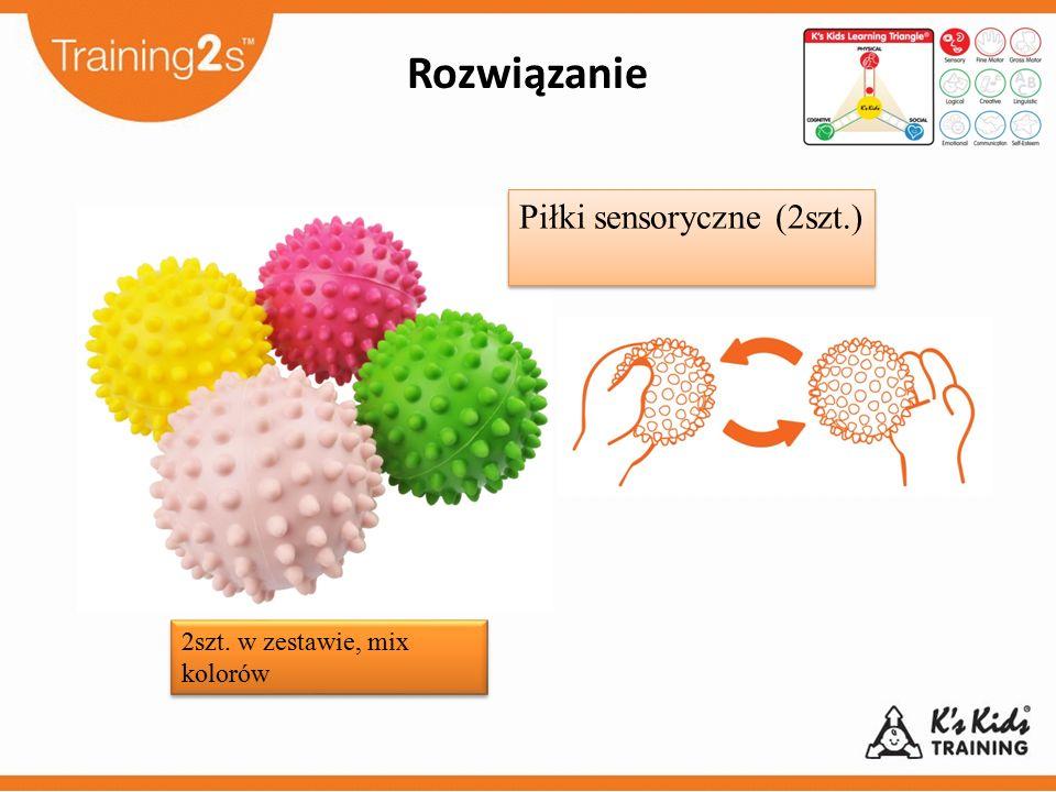 2szt. w zestawie, mix kolorów Rozwiązanie Piłki sensoryczne (2szt.)