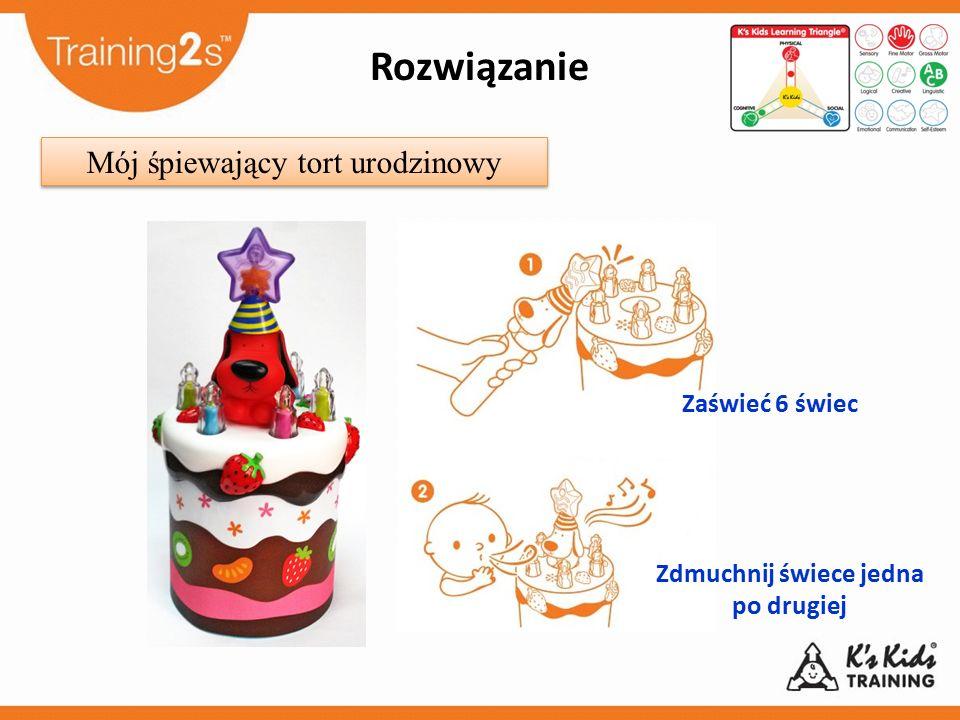 Zdmuchnij świece jedna po drugiej Zaświeć 6 świec Mój śpiewający tort urodzinowy Rozwiązanie