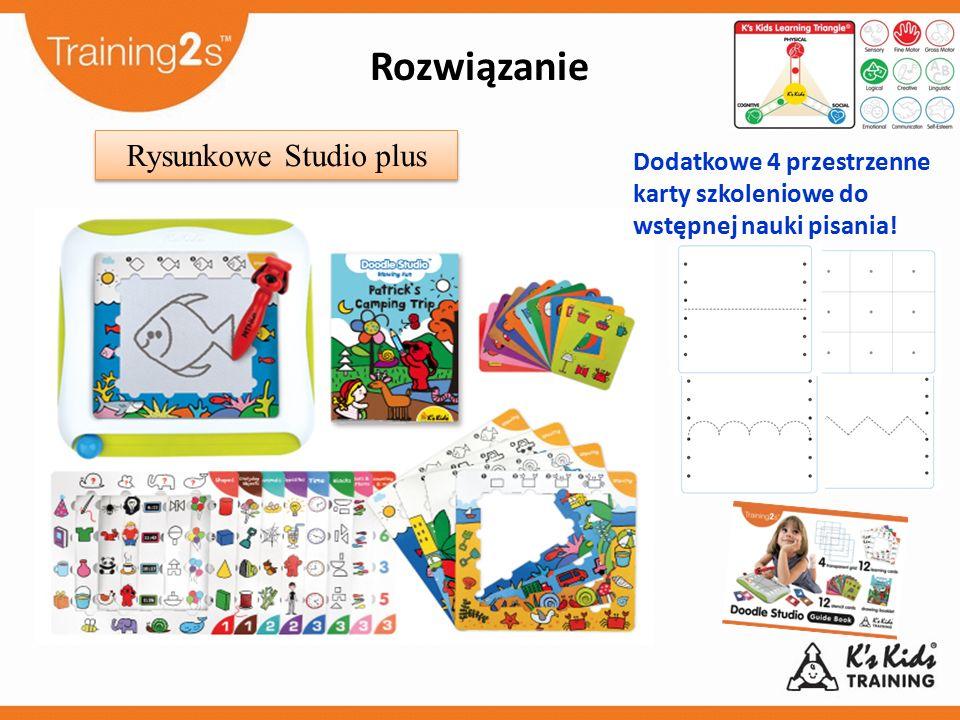 Dodatkowe 4 przestrzenne karty szkoleniowe do wstępnej nauki pisania! Rysunkowe Studio plus Rozwiązanie