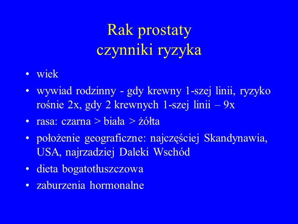 LECZENIE OPERACYJNE Radykalna prostatektomia: usunięcie całego gruczołu wraz z pęcherzykami nasiennymi z dostępu załonowego (najczęściej) i zespolenie kikuta cewki moczowej z dnem pęcherza