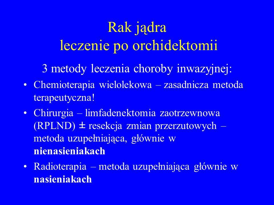 Rak jądra leczenie po orchidektomii 3 metody leczenia choroby inwazyjnej: Chemioterapia wielolekowa – zasadnicza metoda terapeutyczna.