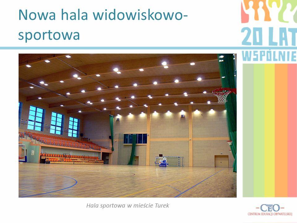 Nowa hala widowiskowo- sportowa Hala sportowa w mieście Turek