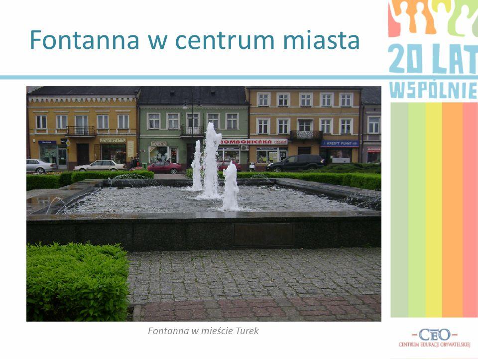 Fontanna w centrum miasta Fontanna w mieście Turek