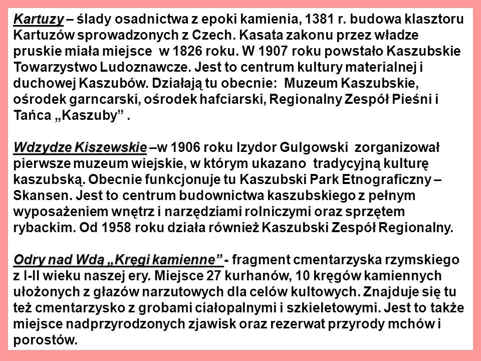 Kartuzy Kartuzy – ślady osadnictwa z epoki kamienia, 1381 r.
