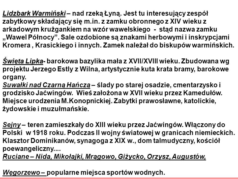 Lidzbark Warmiński Lidzbark Warmiński – nad rzeką Łyną.