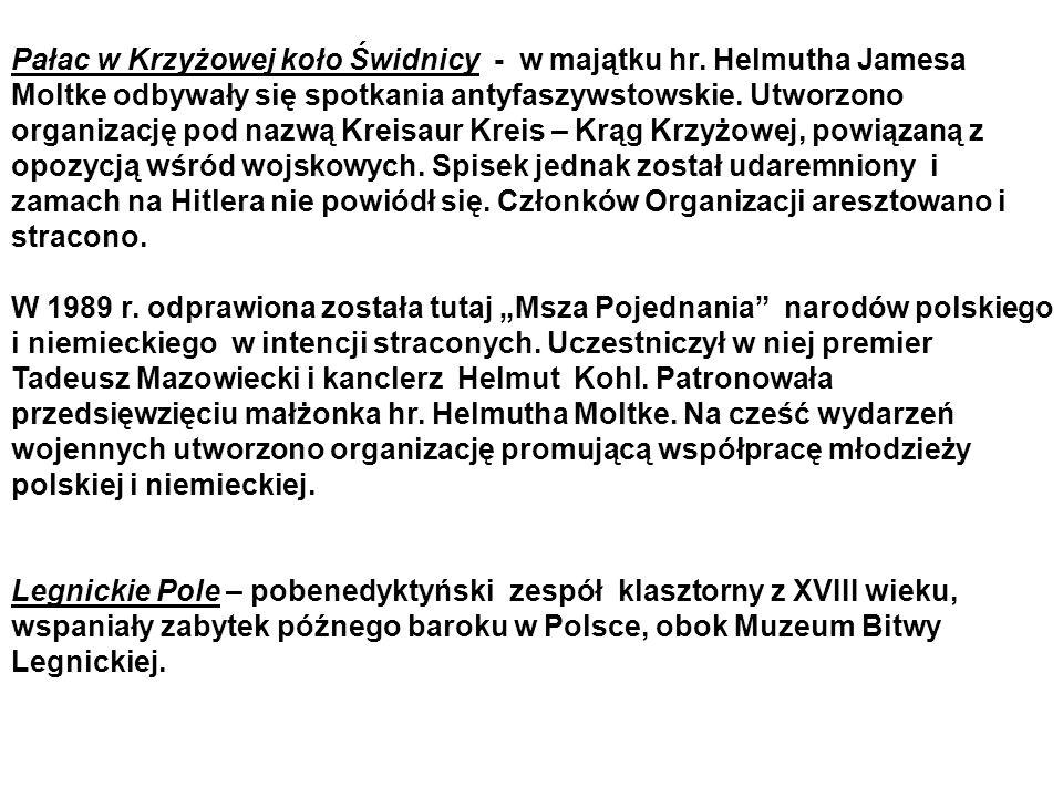 Pałac w Krzyżowej koło Świdnicy - w majątku hr.