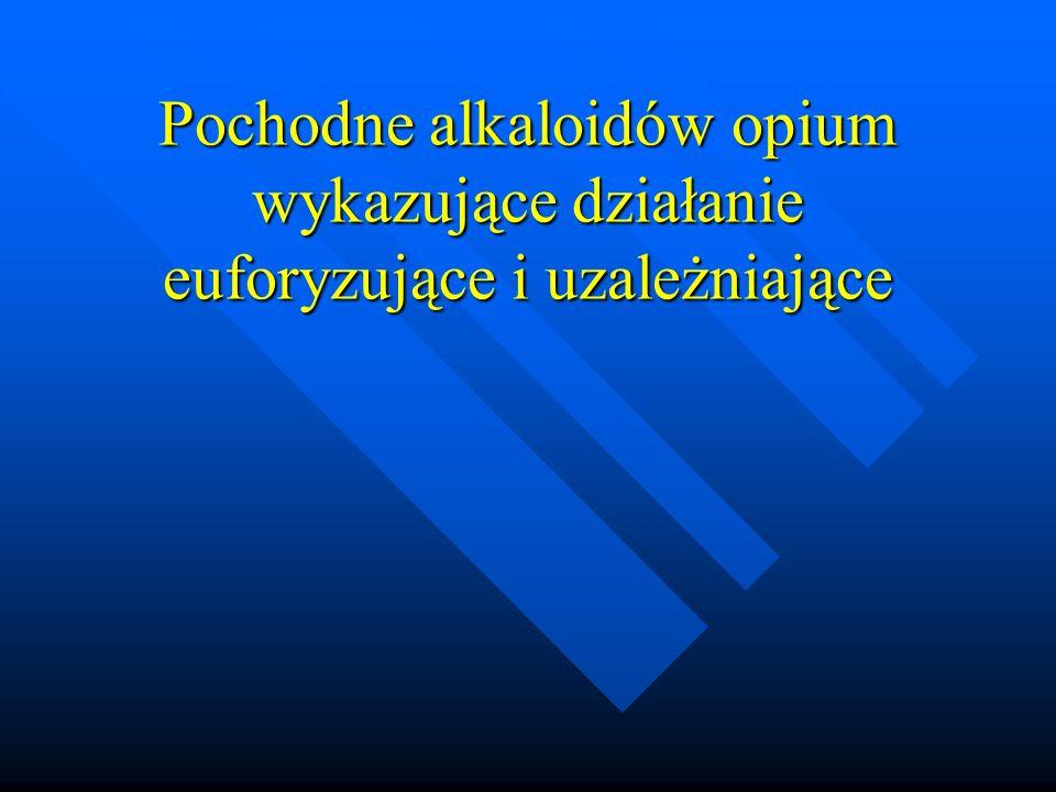 Estry kwasów organicznych Słabsze działanie p/kaszlowe niż opioidy Słabsze działanie p/kaszlowe niż opioidy Okseladyna ( słabe działanie wykrztuśne, nie hamuje ośrodka oddechowego i nie wywołuje zależności ) Okseladyna ( słabe działanie wykrztuśne, nie hamuje ośrodka oddechowego i nie wywołuje zależności ) Oksolamina Oksolamina Pentoksyweryna Pentoksyweryna Glaucyna Glaucyna
