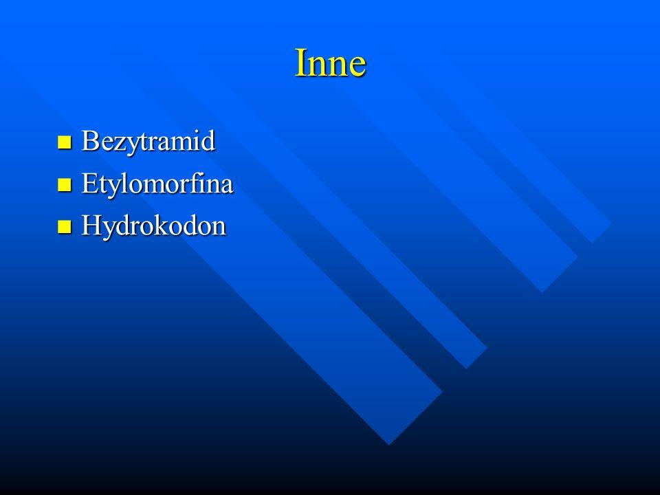 Inne Bezytramid Bezytramid Etylomorfina Etylomorfina Hydrokodon Hydrokodon