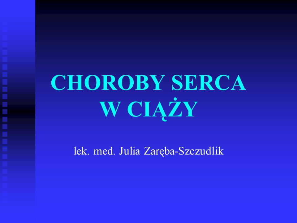 CHOROBY SERCA W CIĄŻY lek. med. Julia Zaręba-Szczudlik