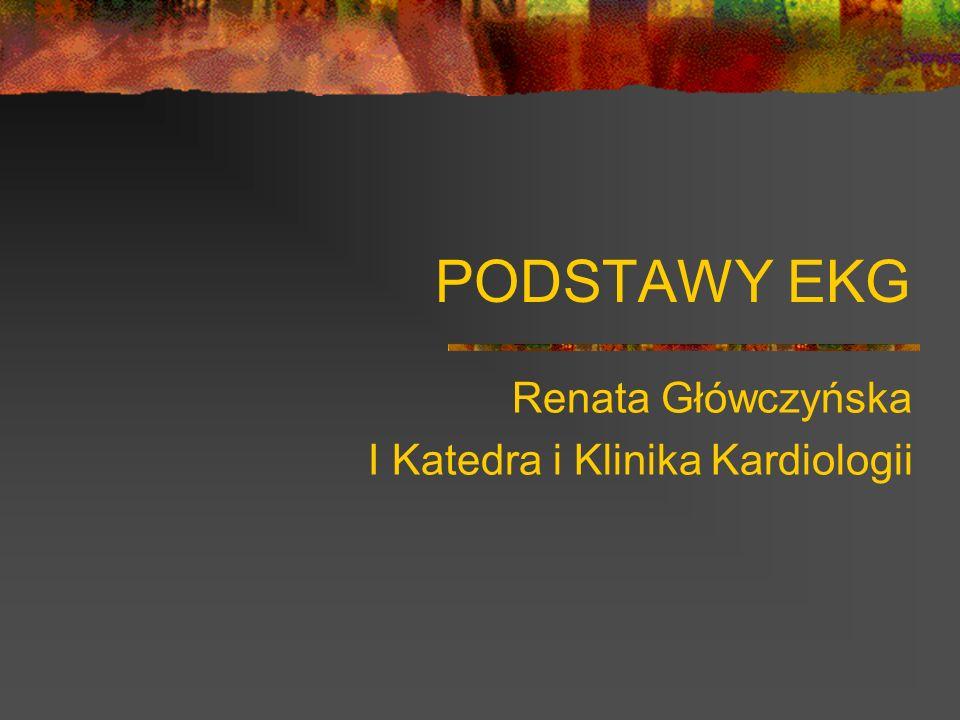 PODSTAWY EKG Renata Główczyńska I Katedra i Klinika Kardiologii