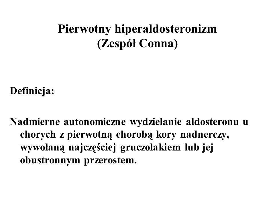Stany kliniczne związane ze zwiększoną ARO: Ograniczenie podaży sodu Nadmierna utrata płynów ustrojowych Zmniejszenie efektywnej objętości osocza: (pionizacja, zespół nerczycowy, marskość wątroby, niewydolność serca) Zmniejszenie ciśnienia perfuzyjnego w nerkach (NNN, nadciśnienie złośliwe, reninoma) Wzrost aktywacji współczulnej (pheochromocytoma, stres, uraz, wysiłek, nadcz.
