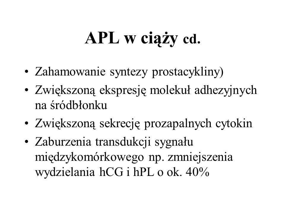 APL w ciąży cd.