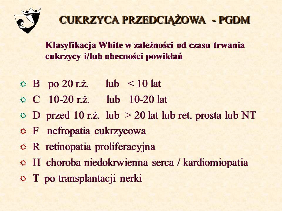 glikemia na czczo w czasie pierwszej wizyty prawidłowy <100 mg/dl≥ 100 < 126 mg/dl nieprawidłowa ≥ 126 mg/dl nieprawidłowy ≥ 200 mg/dl OGTT prawidłowy