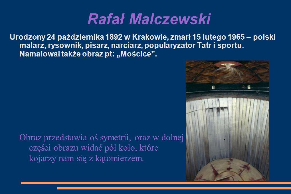 Rafał Malczewski Urodzony 24 października 1892 w Krakowie, zmarł 15 lutego 1965 – polski malarz, rysownik, pisarz, narciarz, popularyzator Tatr i sportu.