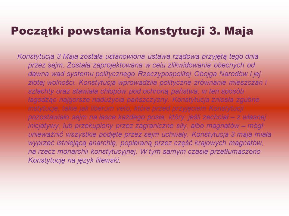Początki powstania Konstytucji 3.