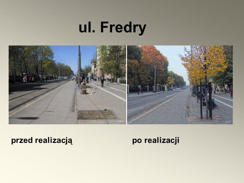 ul. Fredry przed realizacjąpo realizacji