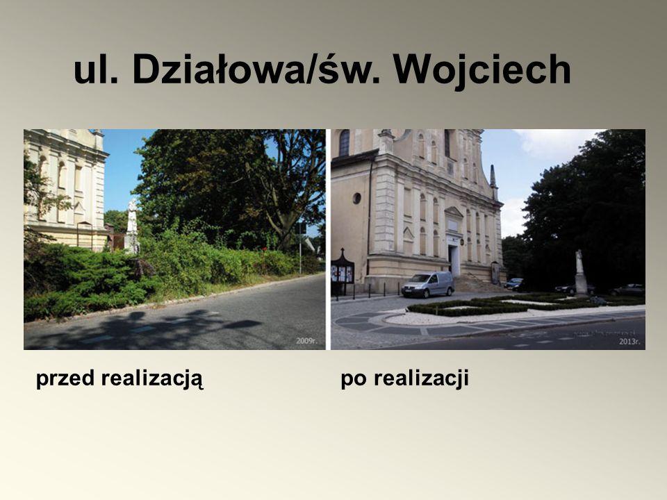 ul. Działowa/św. Wojciech przed realizacjąpo realizacji