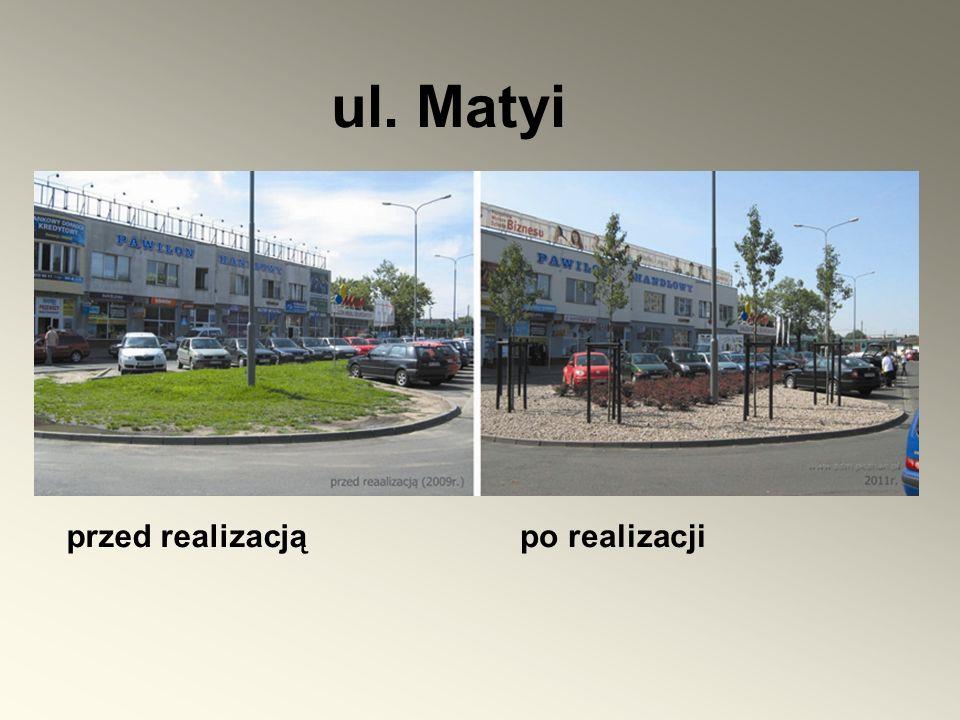 ul. Matyi przed realizacjąpo realizacji