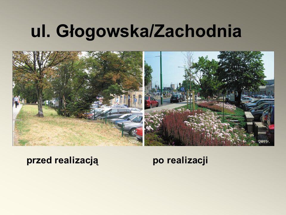 przed realizacją ul. Głogowska/Zachodnia po realizacji