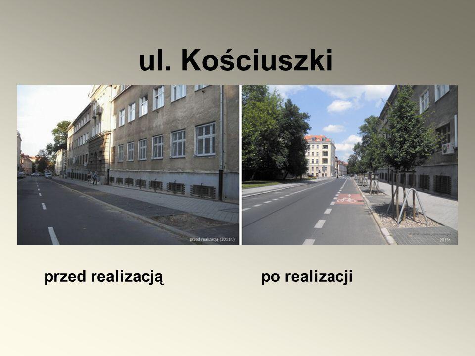 przed realizacjąpo realizacji ul. Kościuszki