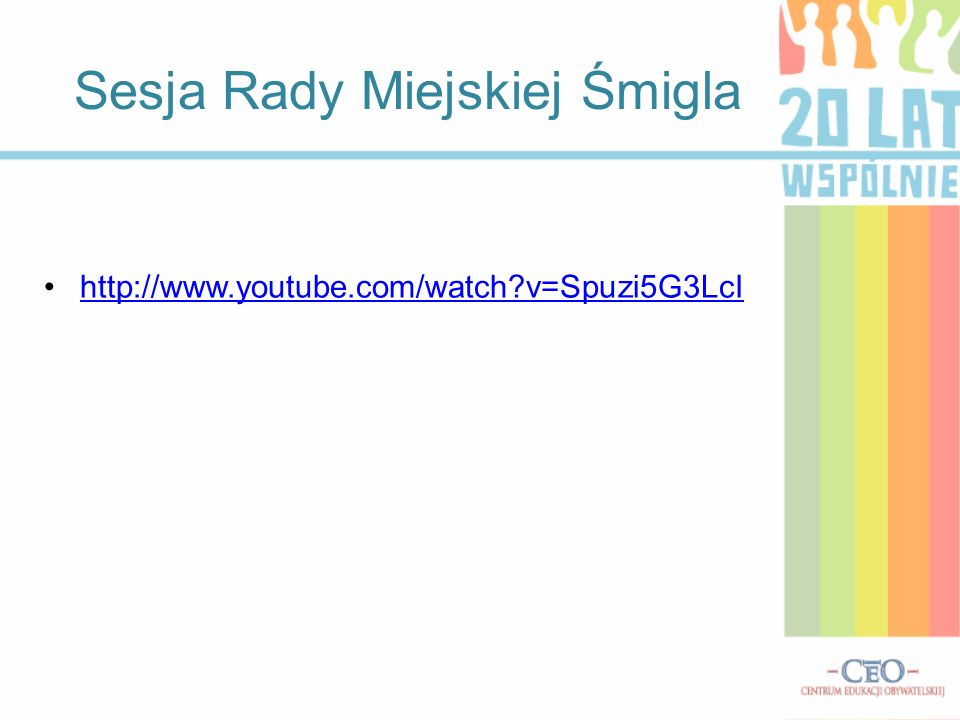 Sesja Rady Miejskiej Śmigla http://www.youtube.com/watch v=Spuzi5G3LcI