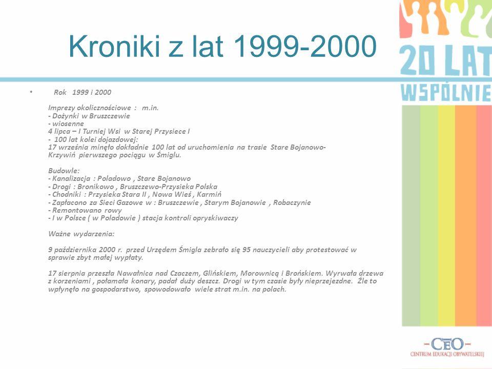 Kroniki z lat 1999-2000 Rok 1999 i 2000 Imprezy okolicznościowe : m.in.