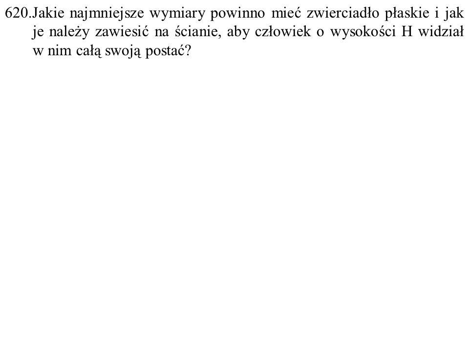 Dane: H. Szukane: h=? F: