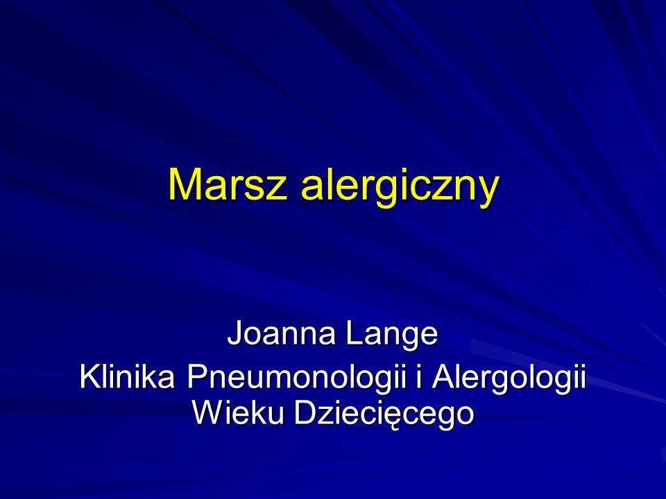 Marsz alergiczny Joanna Lange Klinika Pneumonologii i Alergologii Wieku Dziecięcego
