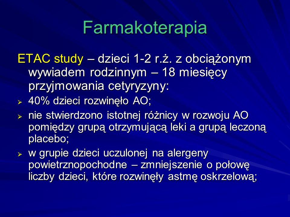 Farmakoterapia ETAC study – dzieci 1-2 r.ż.