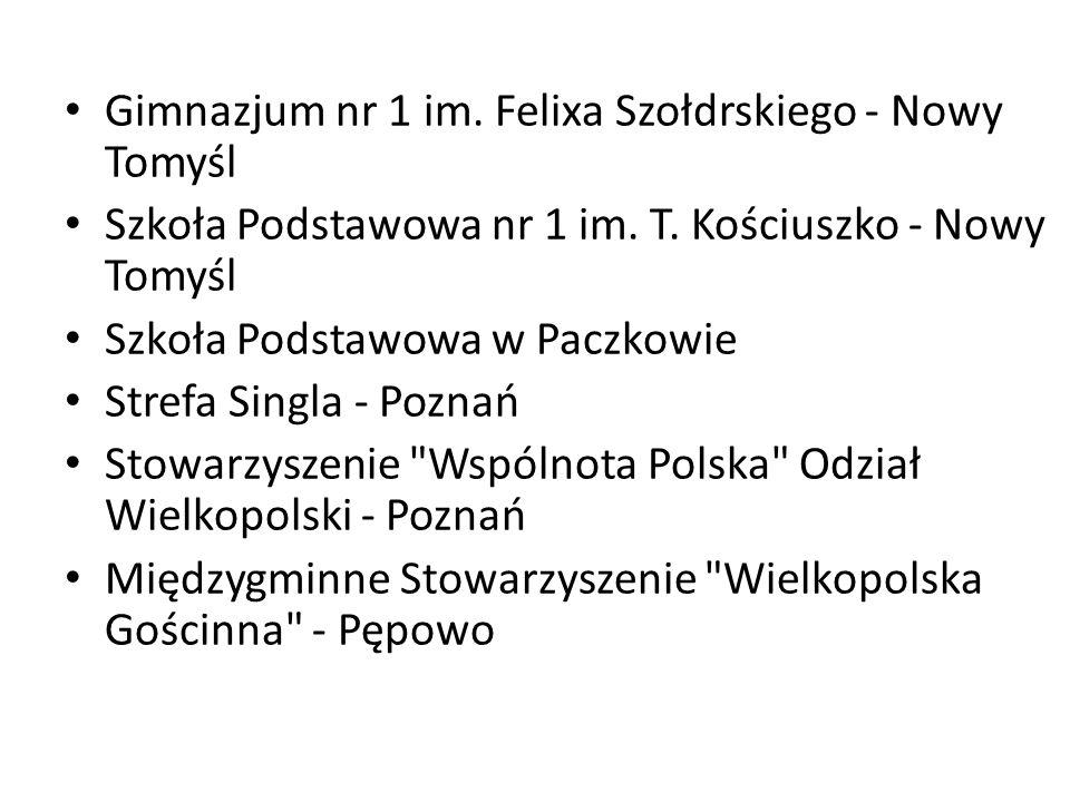 Gimnazjum nr 1 im. Felixa Szołdrskiego - Nowy Tomyśl Szkoła Podstawowa nr 1 im.