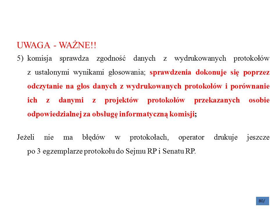 UWAGA - WAŻNE!.