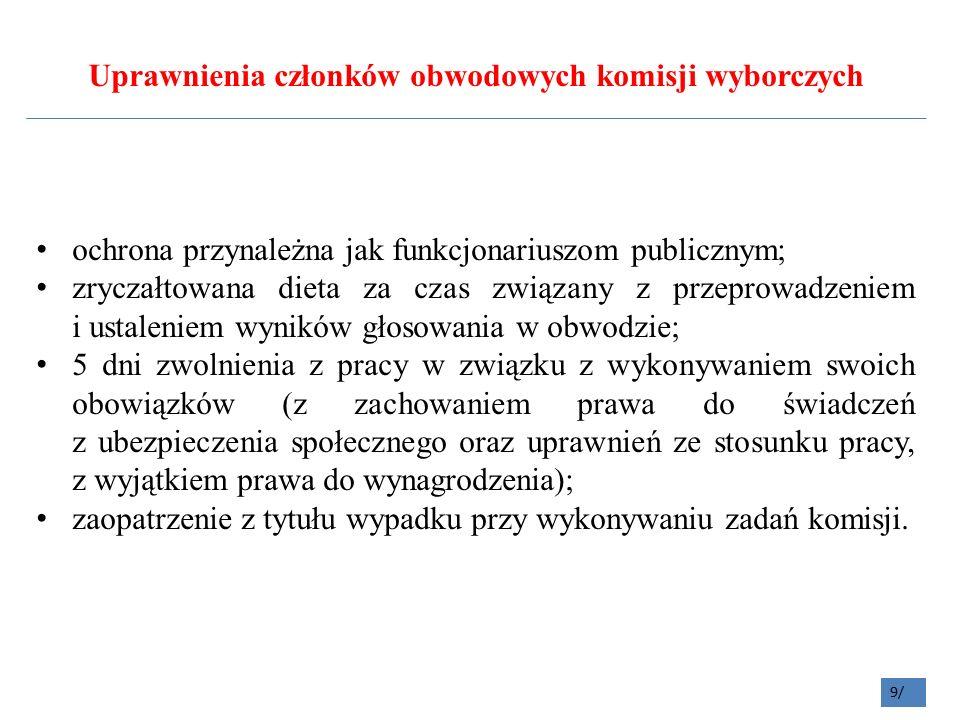 40/ Komisja ustala liczbę wyborców uprawnionych do głosowania tj.