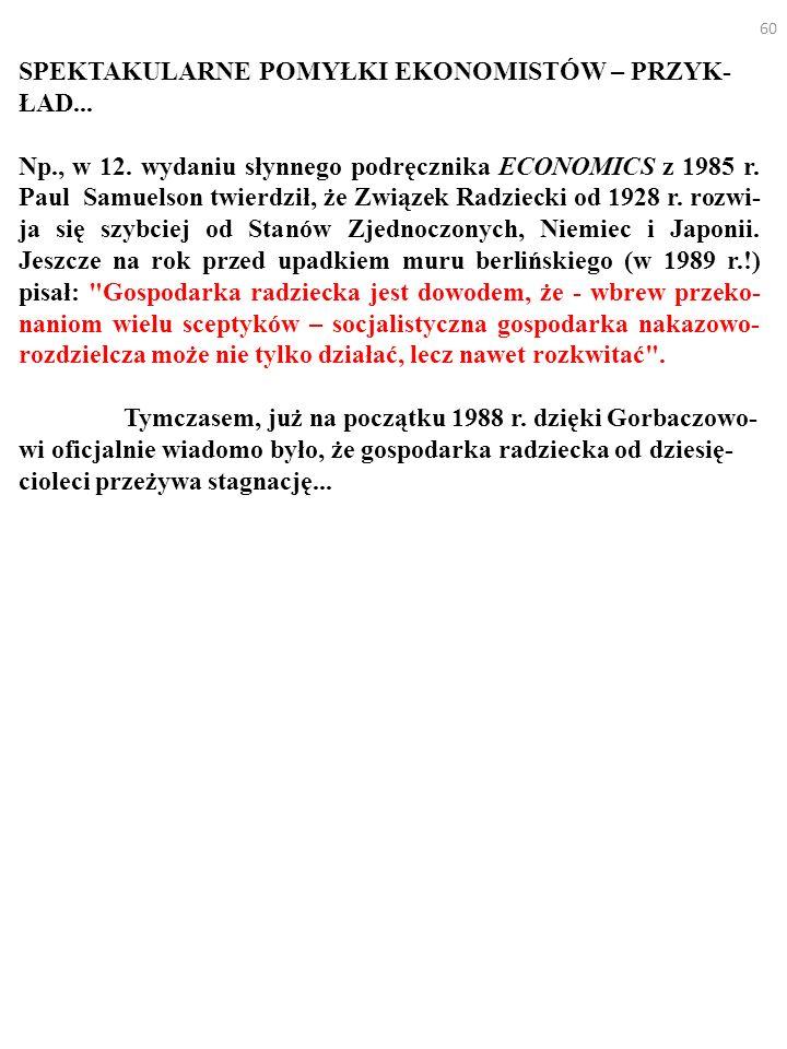 60 SPEKTAKULARNE POMYŁKI EKONOMISTÓW – PRZYK- ŁAD...