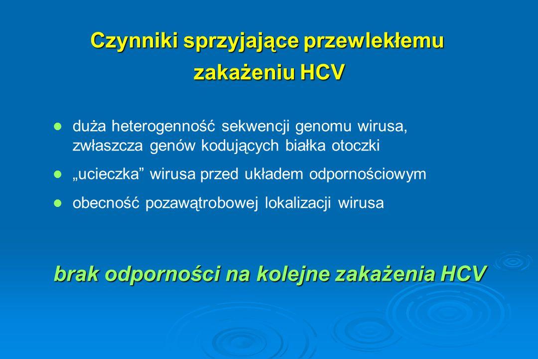 """duża heterogenność sekwencji genomu wirusa, zwłaszcza genów kodujących białka otoczki """"ucieczka"""" wirusa przed układem odpornościowym obecność pozawątr"""
