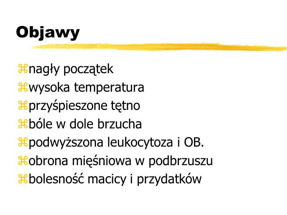 Postacie kliniczne: zostre - acuta zpodostre - subacuta zprzewlekłe - chronica zprzewlekłe zaostrzone - adnexitis chronica exacerbata