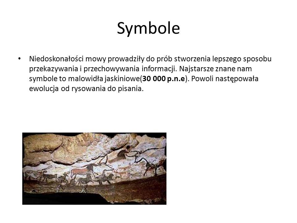 Pismo Symbole były prekursorem kolejnego wielkiego wynalazku – pisma (3300 p.n.e).