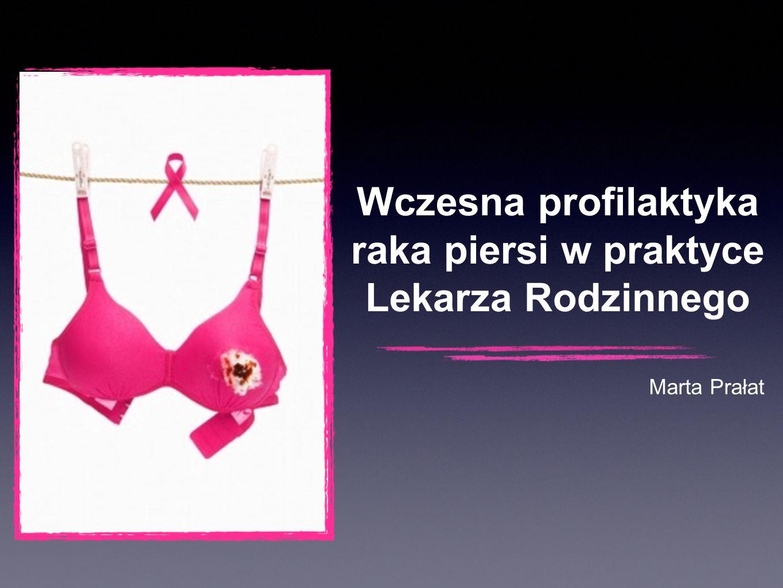 Wczesna profilaktyka raka piersi w praktyce Lekarza Rodzinnego Marta Prałat