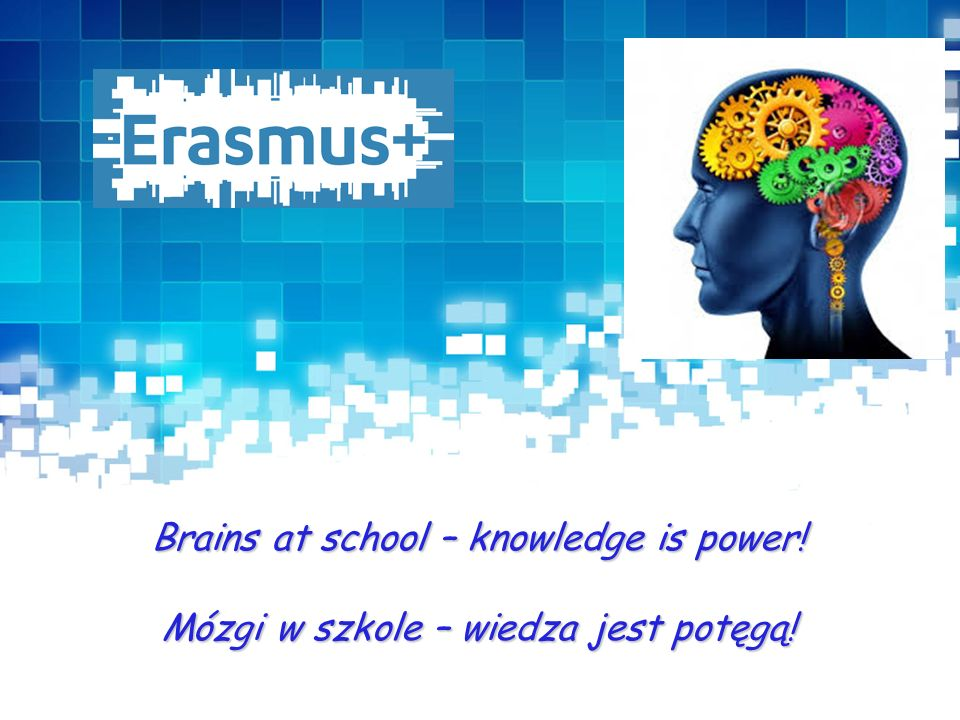 Presentation Title Brains at school – knowledge is power! Mózgi w szkole – wiedza jest potęgą!