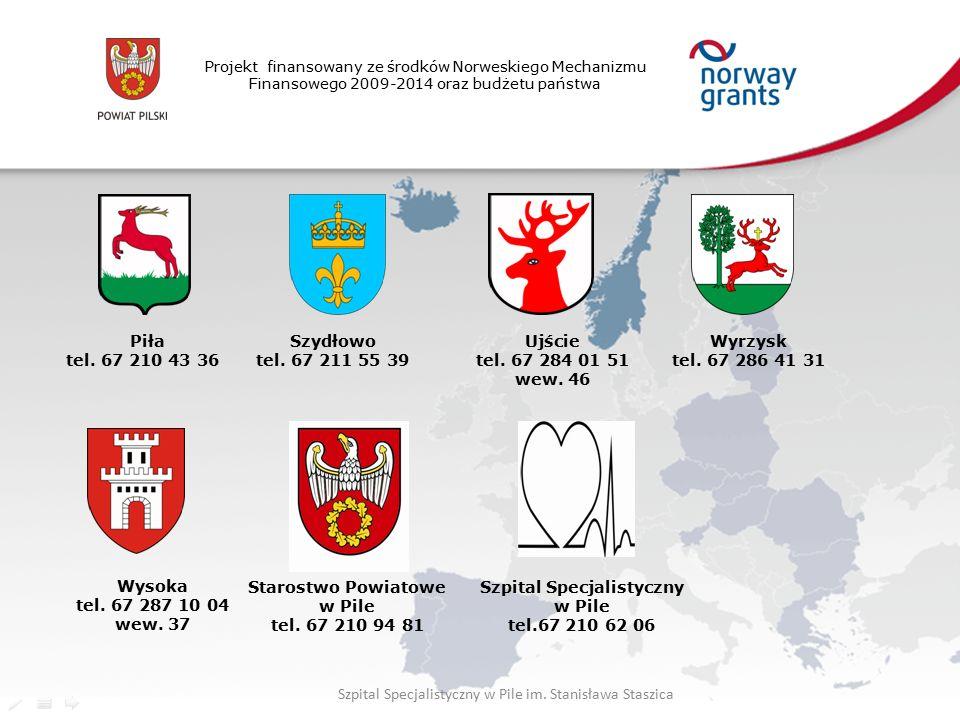 Projekt finansowany ze środków Norweskiego Mechanizmu Finansowego 2009-2014 oraz budżetu państwa Piła tel.