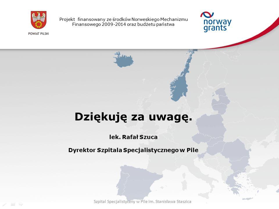 Projekt finansowany ze środków Norweskiego Mechanizmu Finansowego 2009-2014 oraz budżetu państwa Dziękuję za uwagę.