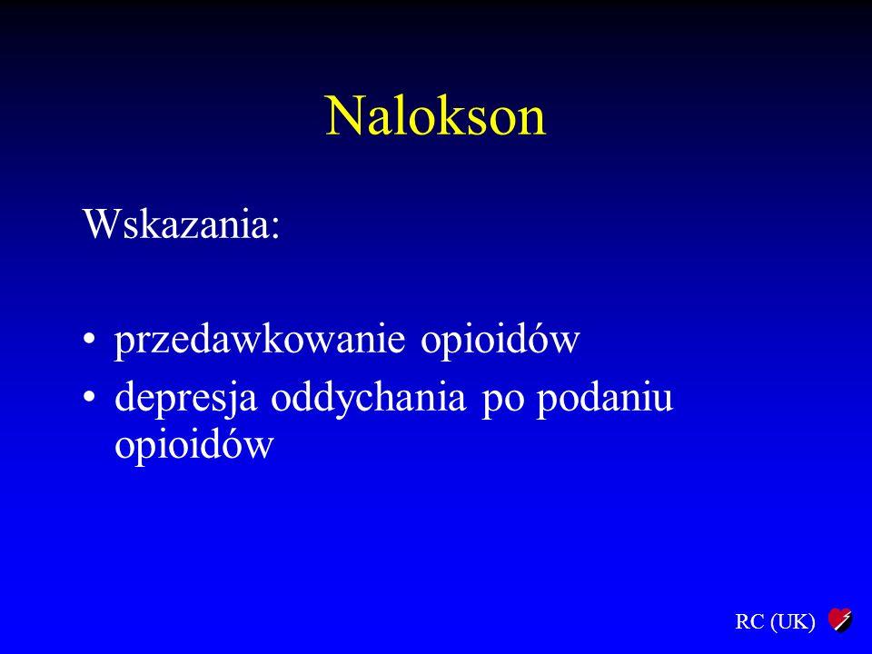RC (UK) Nalokson Wskazania: przedawkowanie opioidów depresja oddychania po podaniu opioidów