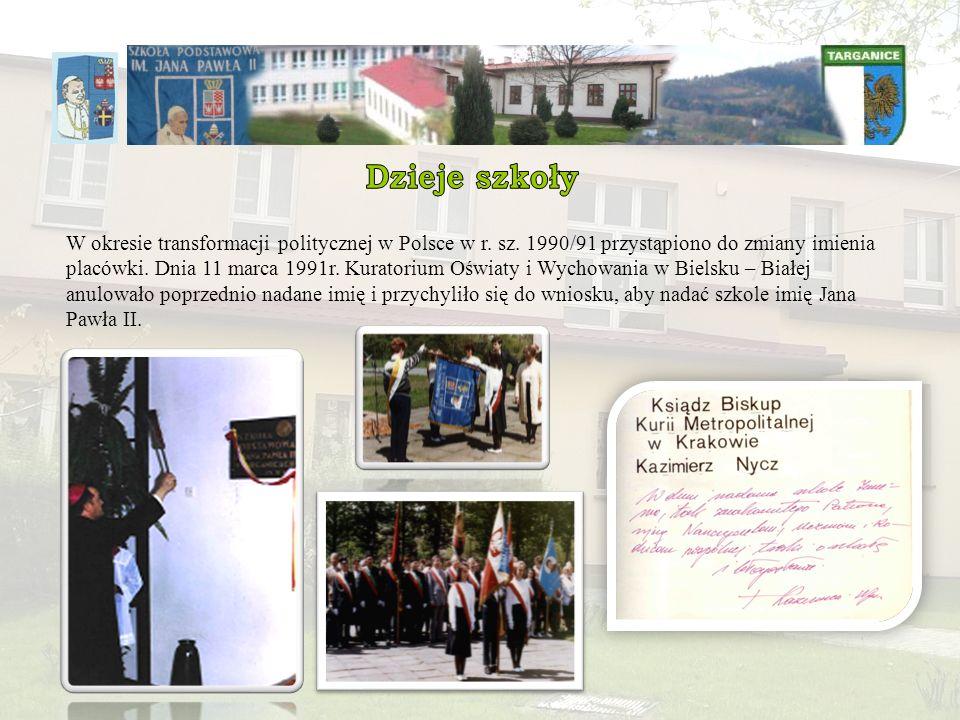 W okresie transformacji politycznej w Polsce w r. sz. 1990/91 przystąpiono do zmiany imienia placówki. Dnia 11 marca 1991r. Kuratorium Oświaty i Wycho