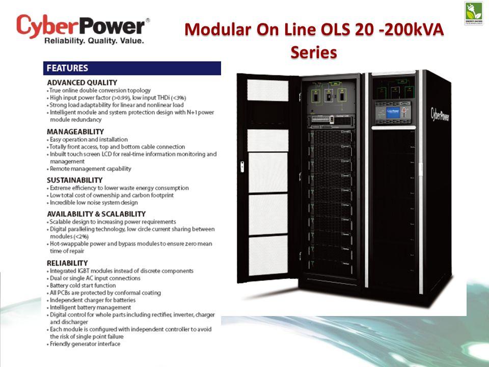 Modular On Line OLS 20 -200kVA Series
